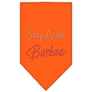 Step Aside Barbie Rhinestone Bandana Orange Large