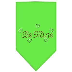 Be Mine Rhinestone Bandana Lime Green Small