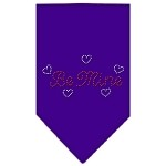 Be Mine Rhinestone Bandana Purple Small