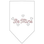 Be Mine Rhinestone Bandana White Small