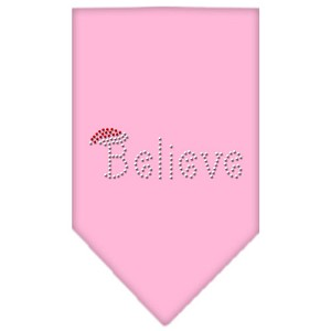 Believe Rhinestone Bandana Light Pink Small