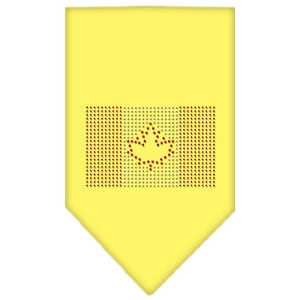 Canadian Flag Rhinestone Bandana Yellow Large