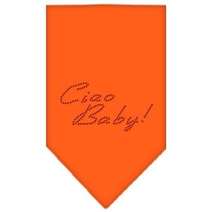 Ciao Baby Rhinestone Bandana Orange Small