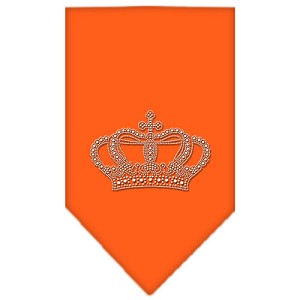 Crown Rhinestone Bandana Orange Small