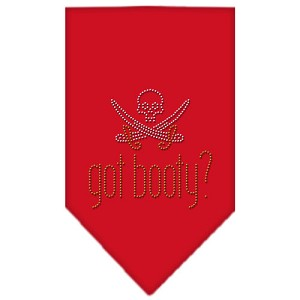 Got Booty Rhinestone Bandana Red Small