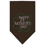 Happy St. Patricks Day Rhinestone Bandana Cocoa Small