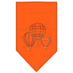 Hot Air Balloons Rhinestone Bandana Orange Large