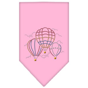 Hot Air Balloons Rhinestone Bandana Light Pink Large