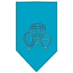 Hot Air Balloons Rhinestone Bandana Turquoise Small