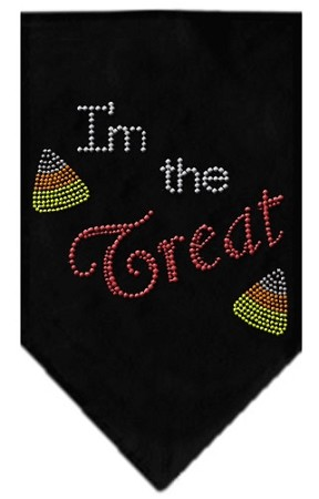 I'm the Treat Rhinestone Bandana Black Large
