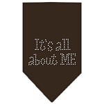 Its All About Me Rhinestone Bandana Cocoa Large