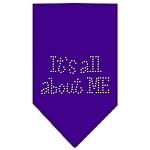 Its All About Me Rhinestone Bandana Purple Large