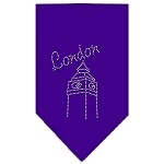 London Rhinestone Bandana Purple Small
