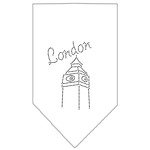 London Rhinestone Bandana White Small