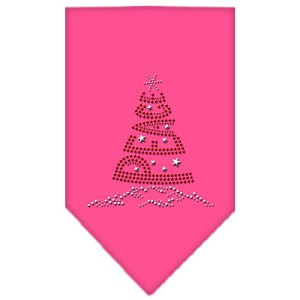Peace Tree Rhinestone Bandana Bright Pink Small
