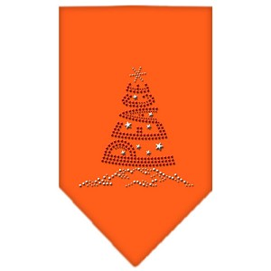 Peace Tree Rhinestone Bandana Orange Large