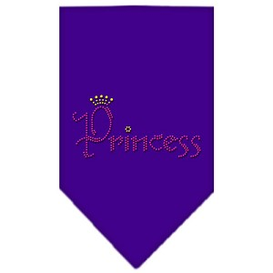 Princess Rhinestone Bandana Purple Large