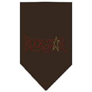 Rock Star Rhinestone Bandana Cocoa Small