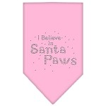 Santa Paws Rhinestone Bandana Light Pink Small