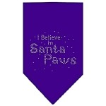 Santa Paws Rhinestone Bandana Purple Small