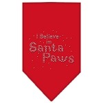 Santa Paws Rhinestone Bandana Red Small