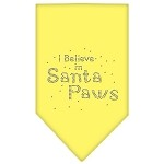 Santa Paws Rhinestone Bandana Yellow Small