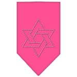 Star Of David Rhinestone Bandana Bright Pink Small