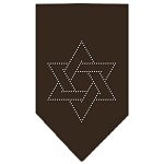 Star Of David Rhinestone Bandana Cocoa Small