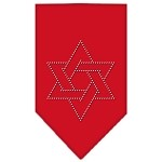 Star Of David Rhinestone Bandana Red Small