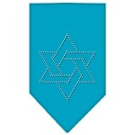 Star Of David Rhinestone Bandana Turquoise Small