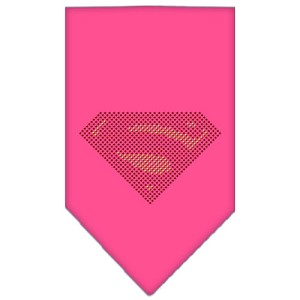Super! Rhinestone Bandana Bright Pink Small