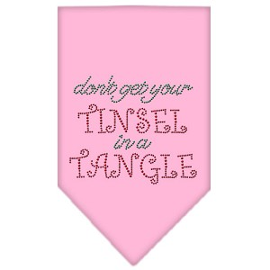 Tinsel in a Tangle Rhinestone Bandana Light Pink Small