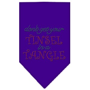 Tinsel in a Tangle Rhinestone Bandana Purple Large