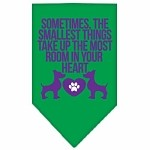 Smallest Things Screen Print Bandana Emerald Green Large