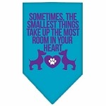 Smallest Things Screen Print Bandana Turquoise Small