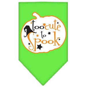 Too Cute to Spook Screen Print Bandana Lime Green Small