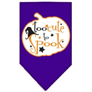 Too Cute to Spook Screen Print Bandana Purple Small