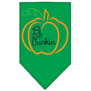 Lil Punkin Screen Print Bandana Emerald Green Small