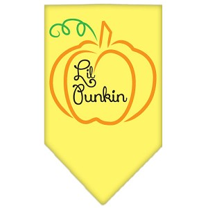 Lil Punkin Screen Print Bandana Yellow Large
