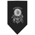 Free Spirit Screen Print Bandana Black Small