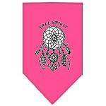 Free Spirit Screen Print Bandana Bright Pink Small
