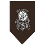 Free Spirit Screen Print Bandana Cocoa Small