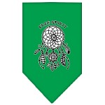 Free Spirit Screen Print Bandana Emerald Green Small