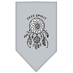 Free Spirit Screen Print Bandana Grey Small