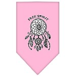 Free Spirit Screen Print Bandana Light Pink Small