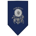 Free Spirit Screen Print Bandana Navy Blue Small