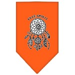 Free Spirit Screen Print Bandana Orange Small