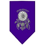 Free Spirit Screen Print Bandana Purple Small