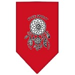 Free Spirit Screen Print Bandana Red Small