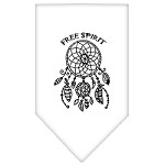 Free Spirit Screen Print Bandana White Small